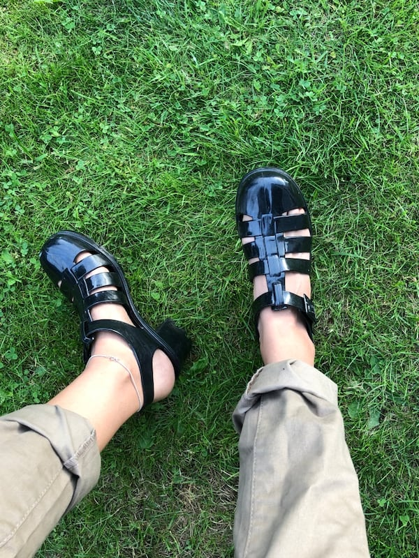 American Apparel Jelly sandals 3