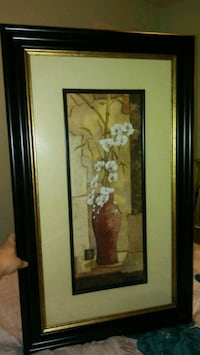 brown wooden framed painting of flowers North Las Vegas, 89081