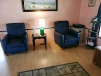 Two blue chairs. Normal wear and tear .They are ve Port Orange