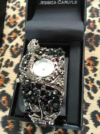 diamond and onyx Jessica Carlyle watch in box Camden, 29020