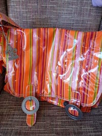 Retro looking diaper bag