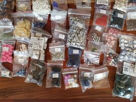 Lot #9 Assortment of Modern & Vintage Beads, Glass, Resin, Clay, Mothe