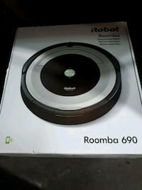 white and black iRobot Roomba vacuum cleaner box Edmonton, T5X 0C7