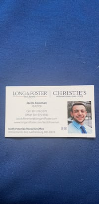 Please contact me for your real estate needs. This is a great time to buy and sell! Interest rates at all time low! Long & Foster is open and I am available to discuss your needs.