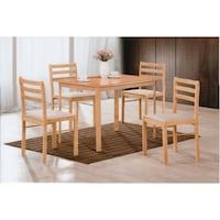 ***ONLY CHAIRS, TABLE IS NOT INCLUDED*** Hodedah 5-Piece Dinette Set, Beech Color| SKU# 62-022 Santa Ana