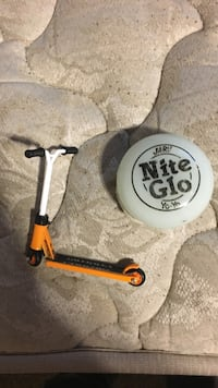 orange kick scooter miniature
