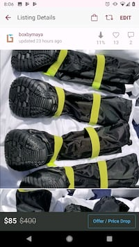 4 firefighter fire proof dog boots, new