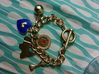 Gold charm toggle bracelet Capitol Heights, 20743