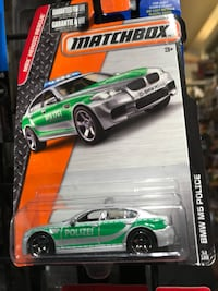 green and white Hess truck toy Rialto, 92376