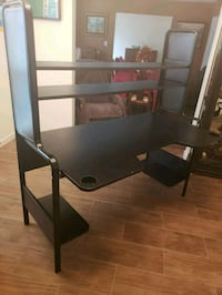 black metal frame glass top TV stand Houston, 77079