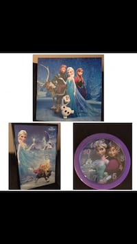 Disney frozen pictures and clock Brampton, L6S 2R8