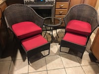 Patio Set Table and Chairs w/ ottomans 2055 mi