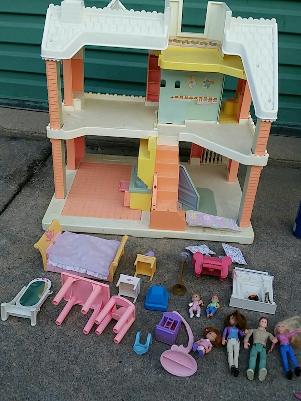 Used Vintage 1991 Playskool Victorian Dollhouse For Sale In Omaha