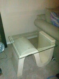 end tables 3/4 inch beveled square glass