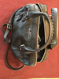black leather 2-way bag Vienna
