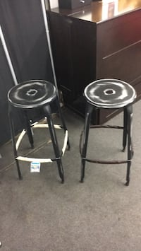 two black steel bar stools Alexandria, 22312
