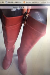 Red fashion boots