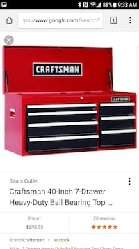 Craftsman Top and Bottom chest,**item is brand new Rock Island