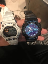 white and black G-Shock digital  analog watches Islip, 11706