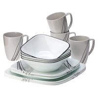 Corelle Square 16-Piece Dinnerware Set + 4 Corona pint glasses Washington, 20037