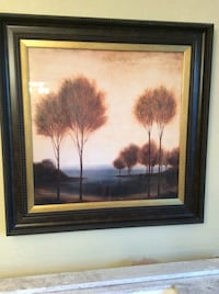Brown wooden framed painting of brown and white house Whitchurch-Stouffville, L4A 3G7