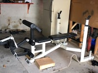 Olympic bench and weights