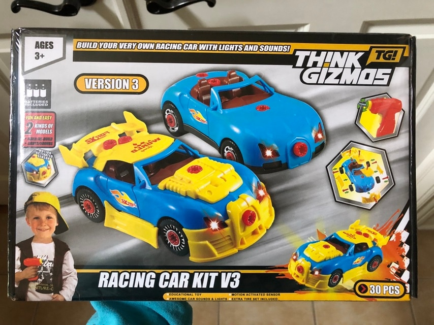 Photo New in box Think gizmos take apart and build race cars. STEM toy