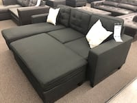 New Couch Sectional. Black. Free Delivery !
