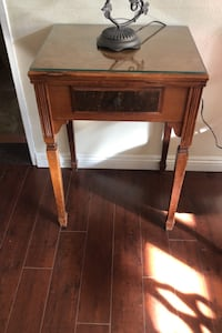 Rare adler side table with sowing machine (Adler brand)