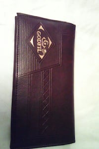 brown Godfil leather wallet