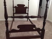 A set of 2 antique 4 poster twin beds. $75each or $140 for both Indio, 92201