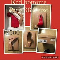 four assorted color leather heels Baltimore, 21225