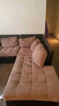 Tan suede sectional couch Las Vegas, 89146