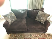 Black fabric 2-seat sofa Woodbridge, 07095