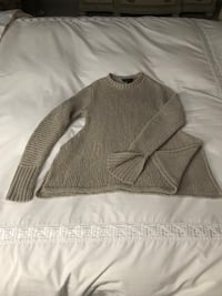 BCBG knit A-Line Sweater with slits on each side and on  sleeves size small . Reg 169$. Brand new never been worn