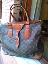 Tote bag Louis Vuitton in pelle blu e marrone Roma, 00172