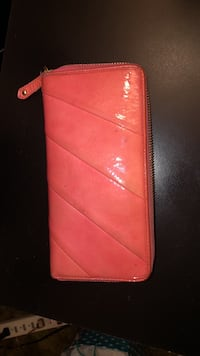 Coach pink wallet leather