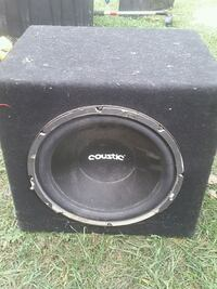 black Pioneer subwoofer with enclosure St. Catharines, L2T 3E5