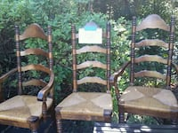 6 wooden dining chairs 2 with arms, 4 without Lacey Township, 08734