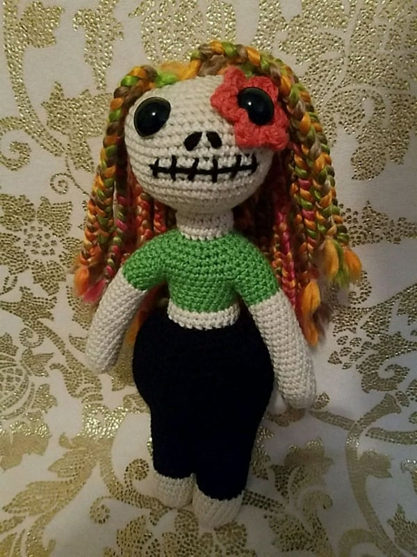 Sugar Skull Kawaii Cuddler™ - Free Crochet Pattern | 3amgracedesigns | 801x600