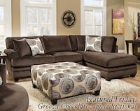 Chocolate 2 Piece Sectional Decatur, 62526