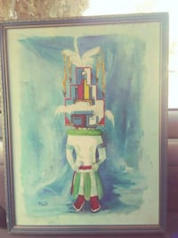 male in white thobe abstract painting