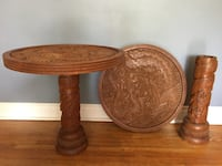 Pair of carved pedestal side tables China  Toronto, M4E 1E5