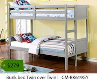 Bunk bed twin over twin  Downey