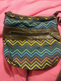 blue, black, and pink chevron leather wristlet Modesto, 95356