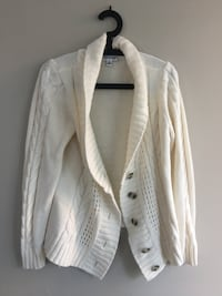White button-up cardigan