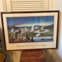Restoring the Wolf in Yellowstone print framed Germantown, 20874