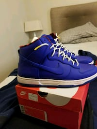 pair of blue Nike high top sneakers on box Buffalo, 14226