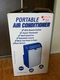 blue and white portable air conditioner box Mississauga, L5A 3K8