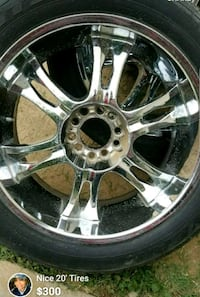 """20""""  4 Rims with tires"""